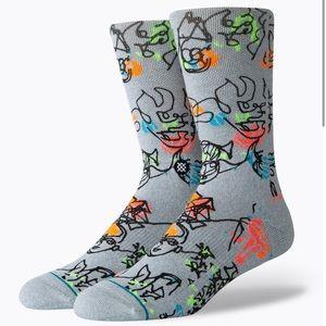 New Stance Electric slide socks size M